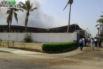 Fire erupts at PIA's engineering complex