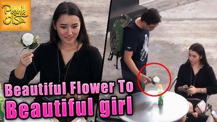 Beautiful Flowers To Beautiful Girls | Adorable Reactions | Prank Asia