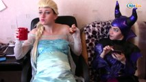 Superhero prank! w/ Spiderman & Frozen Elsa & Maleficent. Healthy Food is pledge of Beauty Episode 8