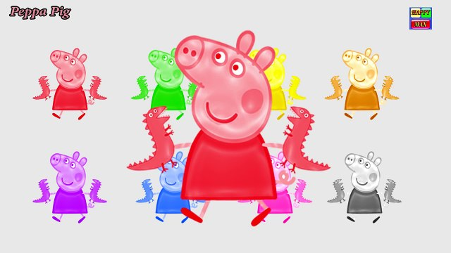 Learn Colors Peppa Pig Coloring Book and Baby Doll Colors Candy Education Video