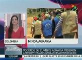 Colombia: denuncian ataques de paramilitares al paro agrario nacional