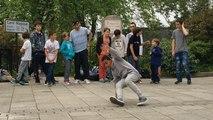 L'ASPTT hip-hop en démo de danse
