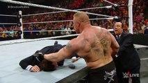 Seth Rollins vs Brock Lesnar - WWE World Heavyweight Championship Match-WWE Raw 2015