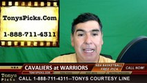 Golden St Warriors vs. Cleveland Cavaliers Free Pick Prediction Game 2 NBA Pro Basketball Finals Odds Preview