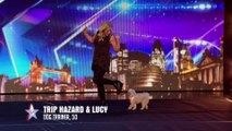 Dancing dog Trip Hazard has all the right moves   Week 1 Auditions   Britain's Got Talent 2016