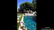 Derek Hough and friends pool partying - June 4, 2016 (Snapchat posts)