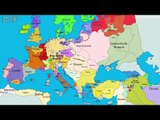 How Europe changes in last 1000 years. With current Lithuania borders