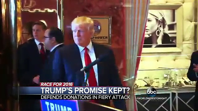 Donald Trump Goes on the Attack at News Conference