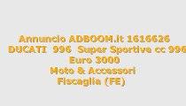 DUCATI  996  Super Sportive cc 996
