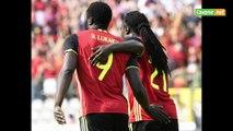 Romelu et Jordan Lukaku après Belgique - Norvège