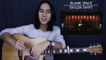 Blank Space (Acoustic) - Taylor Swift Guitar Tutorial Lesson Chords  Acoustic Cover