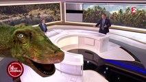 Effets spéciaux sur le plateau du JT de 20H de France 2 avec David Pujadas
