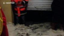 Huge storm brings flooding to Terrigal Surf Lifesaving Club, Australia