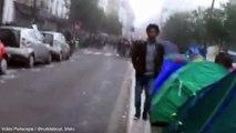 L'évacuation des migrants des Jardins d'Éole à Paris lundi 6 juin