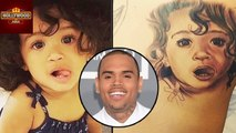 Chris Brown's Awesome ROYALTY Tattoo On His Back | Hollywood Aisa