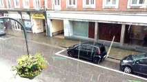 Grosse averse de grêle à Verviers