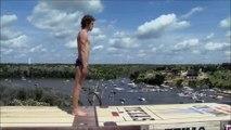 Adrénaline - Tous sports : RedBull Cliff Diving 2016, le saut impressionnant de Gary Hunt au Texas