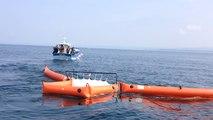 Les pêcheurs en exercice antipollution