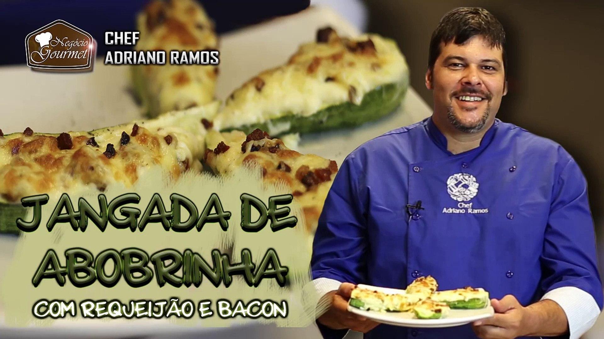 Jangada de Abobrinha com Requeijão e Bacon - Chef Adriano Ramos no Negócio Gourmet
