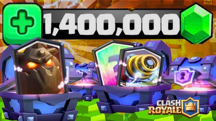 Clash Royale Pack Opening 1'600'000 GEMMES de SUPER MAGICAL CHEST !