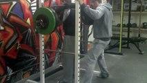 Safety Squat Bar Squat: 130kg x 5 (PR), ME Squat/Deadlift, 20/9/2010