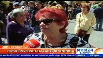 Oposición venezolana regresa a las calles con nuevas movilizaciones para exigir al CNE validación de firmas