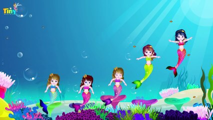 FiveLittle Mermaid | Nursery Rhymes For Kids By TinyDreams