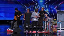 "3 Shades of Blue: Pop Rock Band Covers Nina Simone's ""Feeling Good"" - America's Got Talent 2015 |"