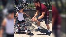 Ces enfants et leur père vont vous faire aimer le skateboard