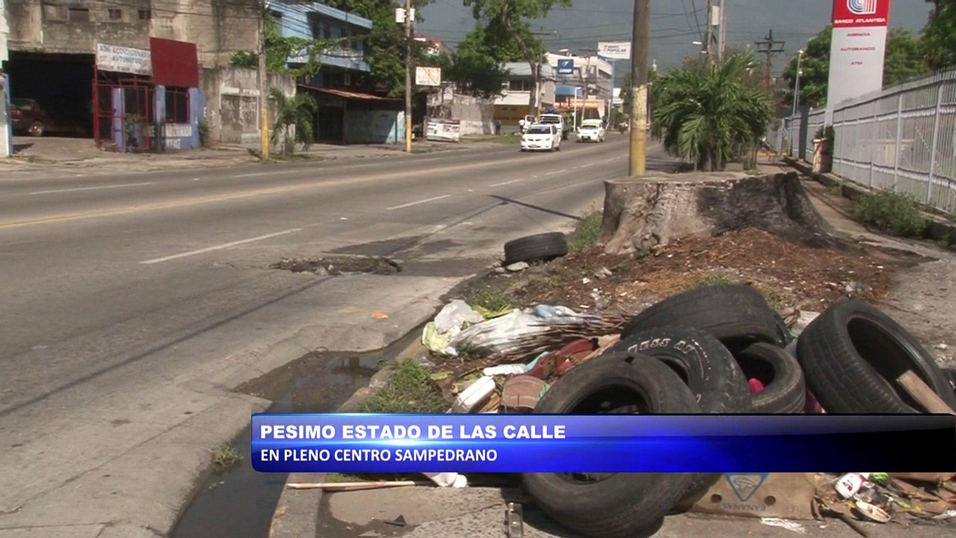 Pesimo estado de  las calles en pleno centro de san pedro sula