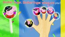 Peppa Pig Batman vs Superman Lollipop Finger Family \ Nursery Rhymes Lyrics and More