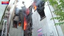 Feu d'immeuble St Denis 7 juin 2016 © BEAUJARD BSPP