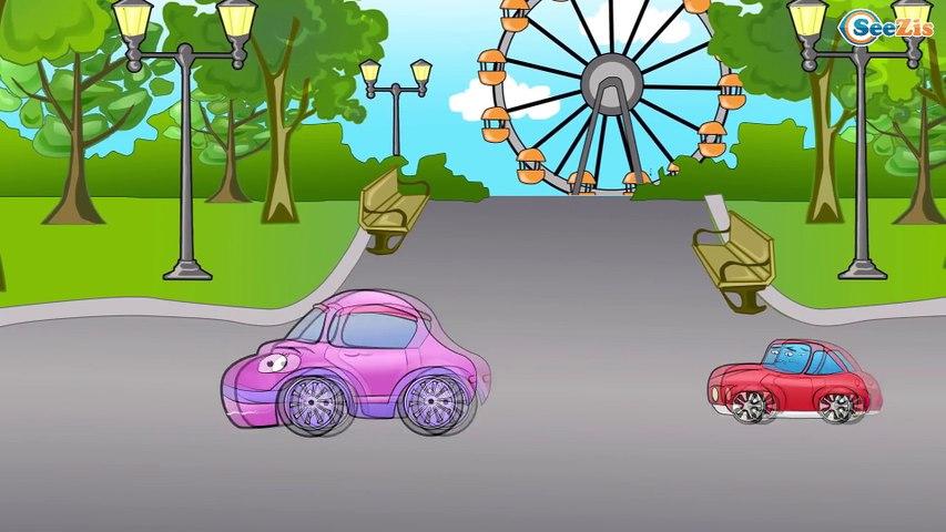 Arabalar cizgi filmleri izle. Polis arabası, İtfaiye arabası, Yarış arabası. Eğitici çizgi film
