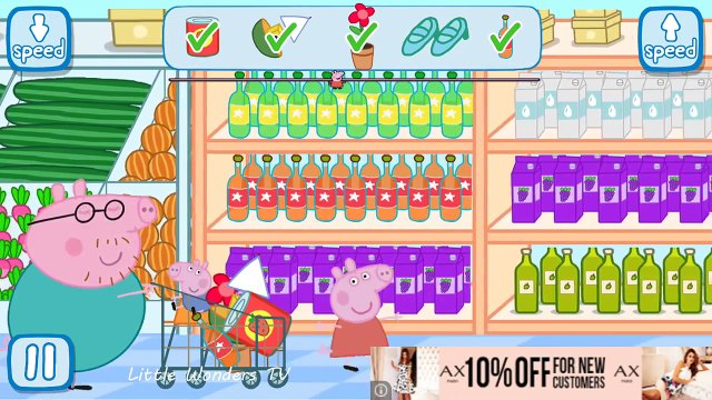 Peppa Pig Shopping Full Game play and Best iPad app demo for kids