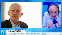 Coût de la grève, projet d'accord, sortie de crise, inondations et compétitivité de la SNCF : Guillaume Pepy répond aux questions de Jean-Pierre Elkabbach