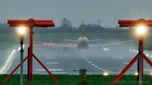 Décollages d'avions par grandes tempêtes... Cauchemar !