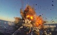 Savaş Gemisini Füzeyle Vurdular