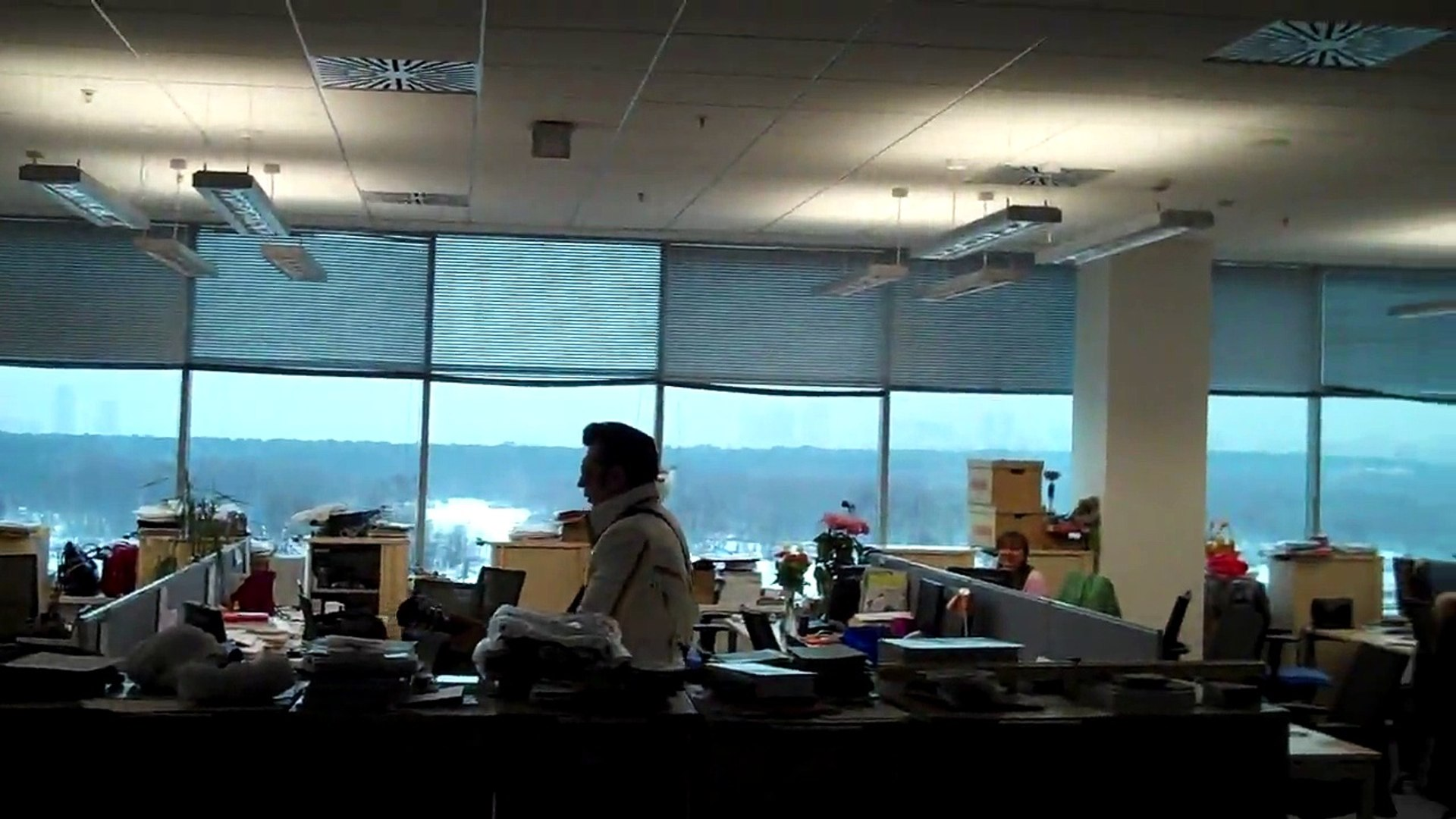 Дед Мороз и Элвис в  офисе Microsoft Russia, 25 декабря 2010