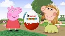 Peppa Pig en Espanol - Kinder Surprise Eggs - Peppa pig change princess sofia Characters