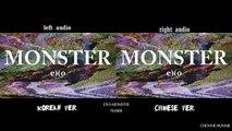 EXO - MONSTER Teaser (Korean Chinese MV Comparison)