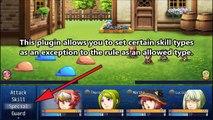 YEP.106 - Equip Battle Skills - Allowed Types - RPG Maker MV.