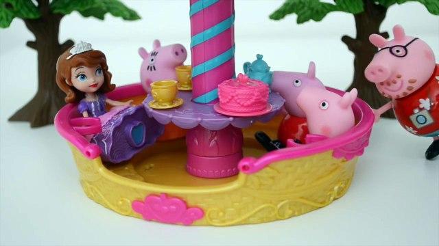 Pig George Da Familia Peppa Pig no Balao da Princesa Sofia!!! Em Portugues Tototoykids.mp4