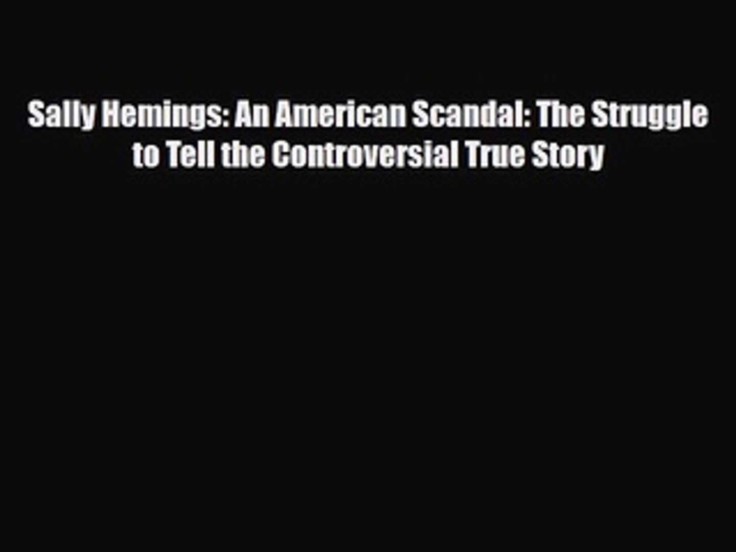 Mongrel Nation The America Begotten by Thomas Jefferson and Sally Hemings