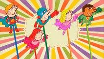 Finger Family Peppa Pig Superhero Lollipop   Super Heroes Finger Family Rhyme