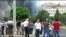 Mardin Midyat Emniyet Müdürlüğü patlama bombalı saldırı anı görüntüleri izle - 08 06 2016