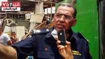 """بالفيديو.. خلال 24 ساعة .. 30 سيارة إطفاء تسيطر على حريق هائل بـ""""سوق الجمعة"""" فى السيدة عائشة بعد التهامه 50 عشة"""