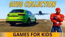 VENOM SUV COULEUR Spiderman Voitures Cartoon pour les enfants Chansons enfantines 3D Comptines w action