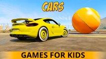 3 VOITURES DE COULEUR dans Cartoon 3D SPIDERMAN Cartoon Comptines Chansons w action pour les enfants