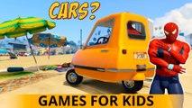 Moments FUN avec Spiderman CARS Cartoon pour les enfants et les enfants Comptines Chansons w action