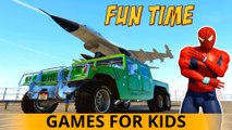FUN TIME avec COOL Spiderman CARS Cartoon pour les enfants et les enfants Comptines Chansons w action